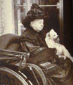 Queen Victoria with her beloved Pomeranian