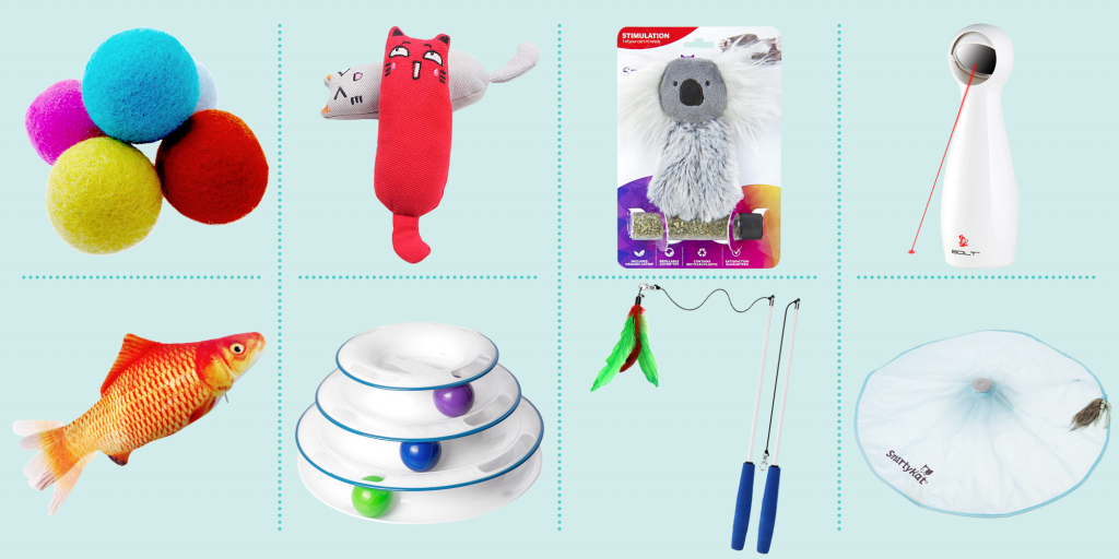 Switch out toys for cats